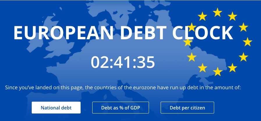 european debt clock