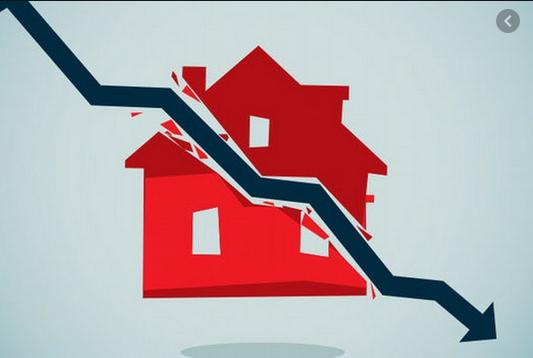 daling van vastgoedprijzen