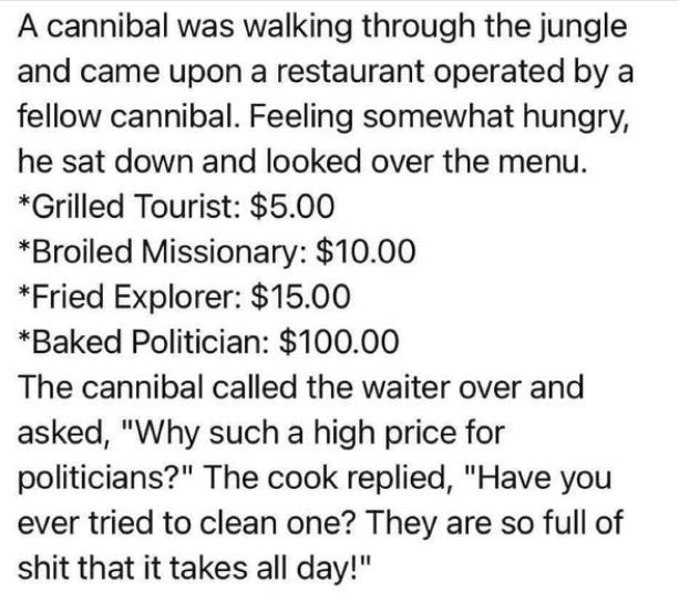 politicians full of shit