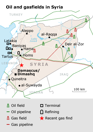 Syria oil-map